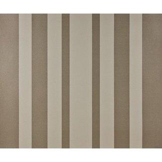 Dutch Wallcoverings Papier streep bruin/creme - 1189-4
