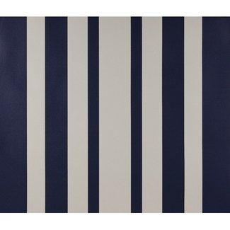 Dutch Wallcoverings Papier streep marine blauw/wit - 1189-6
