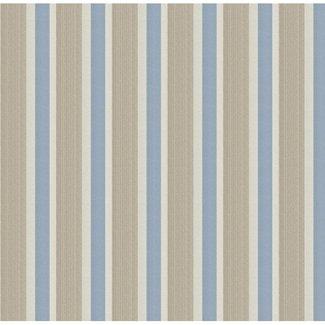 Dutch Wallcoverings Papier streep creme/blauw - 1215-5