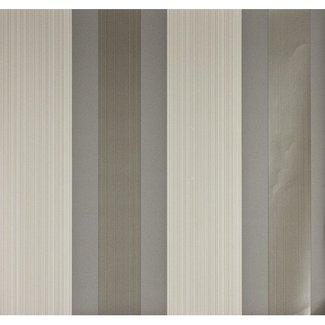Dutch Wallcoverings Papier streep bruin/beige - 1215-7