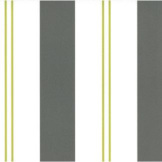 Dutch Wallcoverings Papier streep wit/bruin/groen - 05617-60