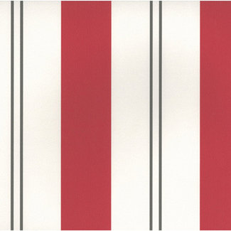 Dutch Wallcoverings Papier streep beige/rood/bruin - 05617-80