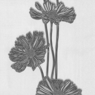 Dutch Wallcoverings Vliesbehang bloem wit/grijs - 13228-50