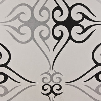 Dutch Wallcoverings Behang tattoo zwart/zilver - 1136-7