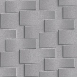 Dutch Wallcoverings Dutch Wallcoverings - Exposure 3D steen donker grijs - EP3304