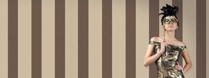 Streep / streepjes behang