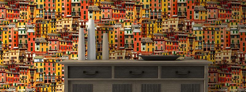 Steden & gebouwen behang