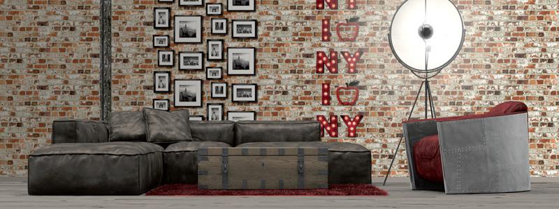 Baksteen & muur behang