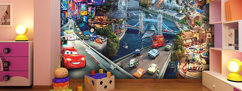 Fotobehang van de Disney film Cars