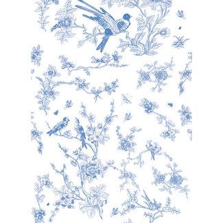 KEK Birds & Blossom blue 2d