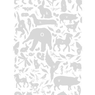 KEK animal alphabet grijs 3d