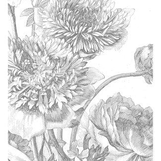 KEK Amsterdam Wallmural Engraved Flowers IV - div.afm.