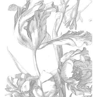 KEK Amsterdam Wallmural Engraved Flowers I - div.afm.