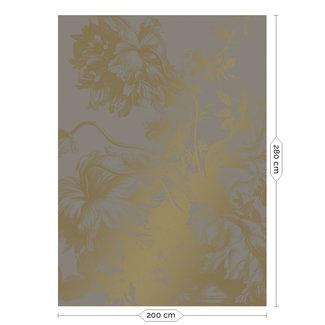 KEK Amsterdam Wallmural Gold Engraved Flowers grey - div.afm.