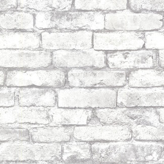 Dutch Wallcoverings Trilogy Brickwork white  - 21261