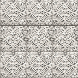 Dutch Wallcoverings Trilogy Tin ceiling grey/white  - 23763