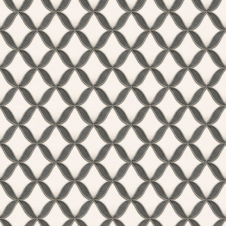 Dutch Wallcoverings Fabric Touch geometric white/black - FT221224