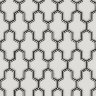 Dutch Wallcoverings Wall Fabric geometric white/black - WF121024