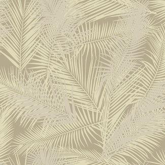 Dutch Wallcoverings Eden palm beige/metallic goud - J98207