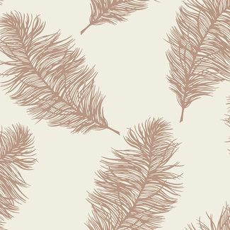 Dutch Wallcoverings Indulgence Feather cream/rose gold - 12627