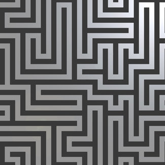 Dutch Wallcoverings Indulgence Maze black - 12912