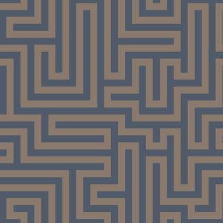 Dutch Wallcoverings Indulgence Maze navy - 12913