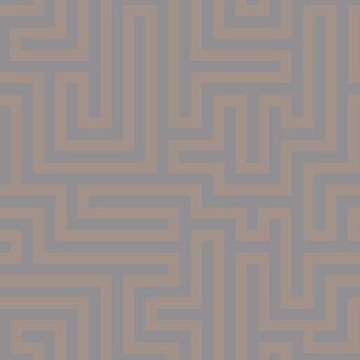 Dutch Wallcoverings Indulgence Maze grey/rose gold - 12914