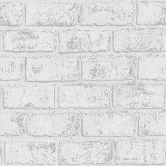 Dutch Wallcoverings Indulgence Metallic brick grey/silver  - 12950