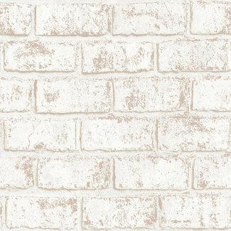 Dutch Wallcoverings Indulgence Metallic brick cream/rose gold - 12952