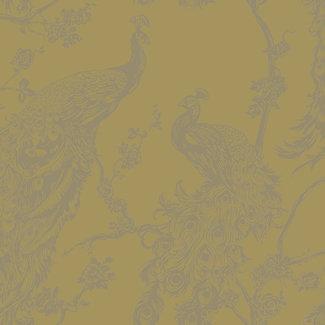 Dutch Wallcoverings Indulgence Peacock yellow  - 12962