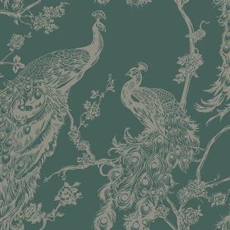 Dutch Wallcoverings Indulgence Peacock green - 12963