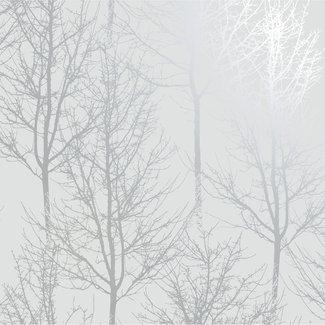 Dutch Wallcoverings Indulgence Rhea trees grey/silver - 90760