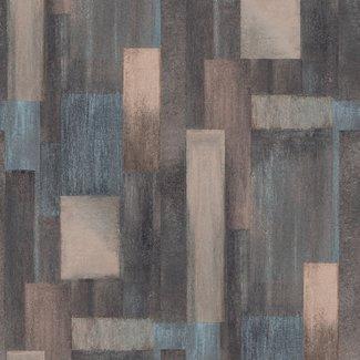 Dutch Wallcoverings Arty Wood bruin/blauw - M469-08