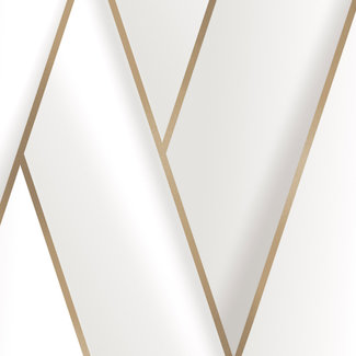 Dutch Wallcoverings Onyx dessin wit/goud - M348-00