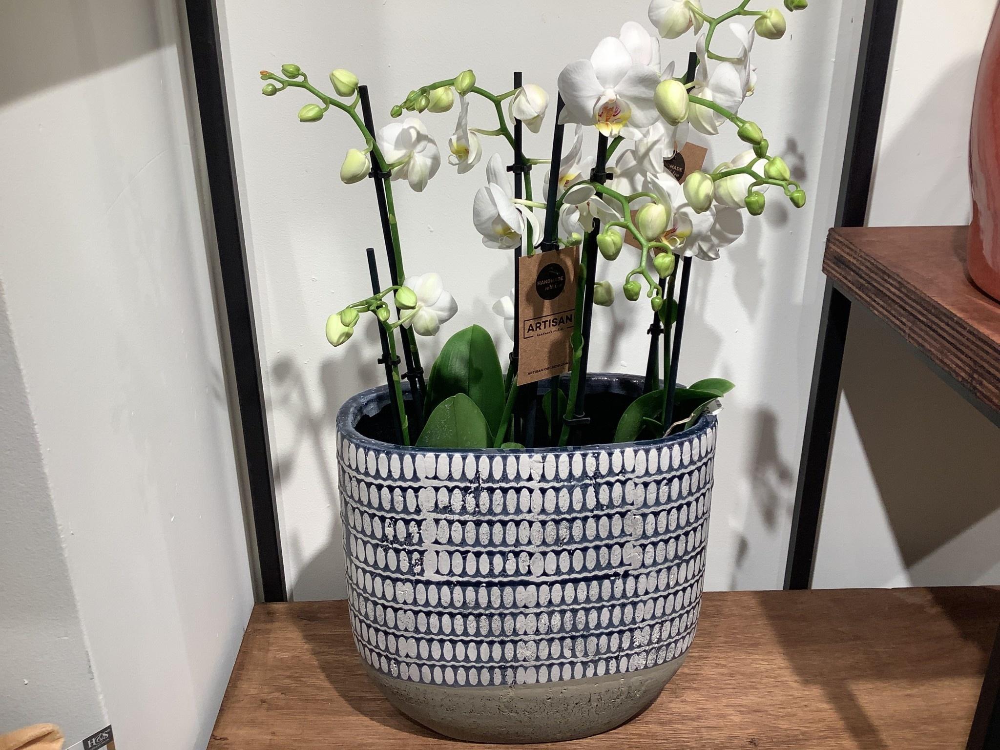 Pot planter Elin denim d30x15 h29