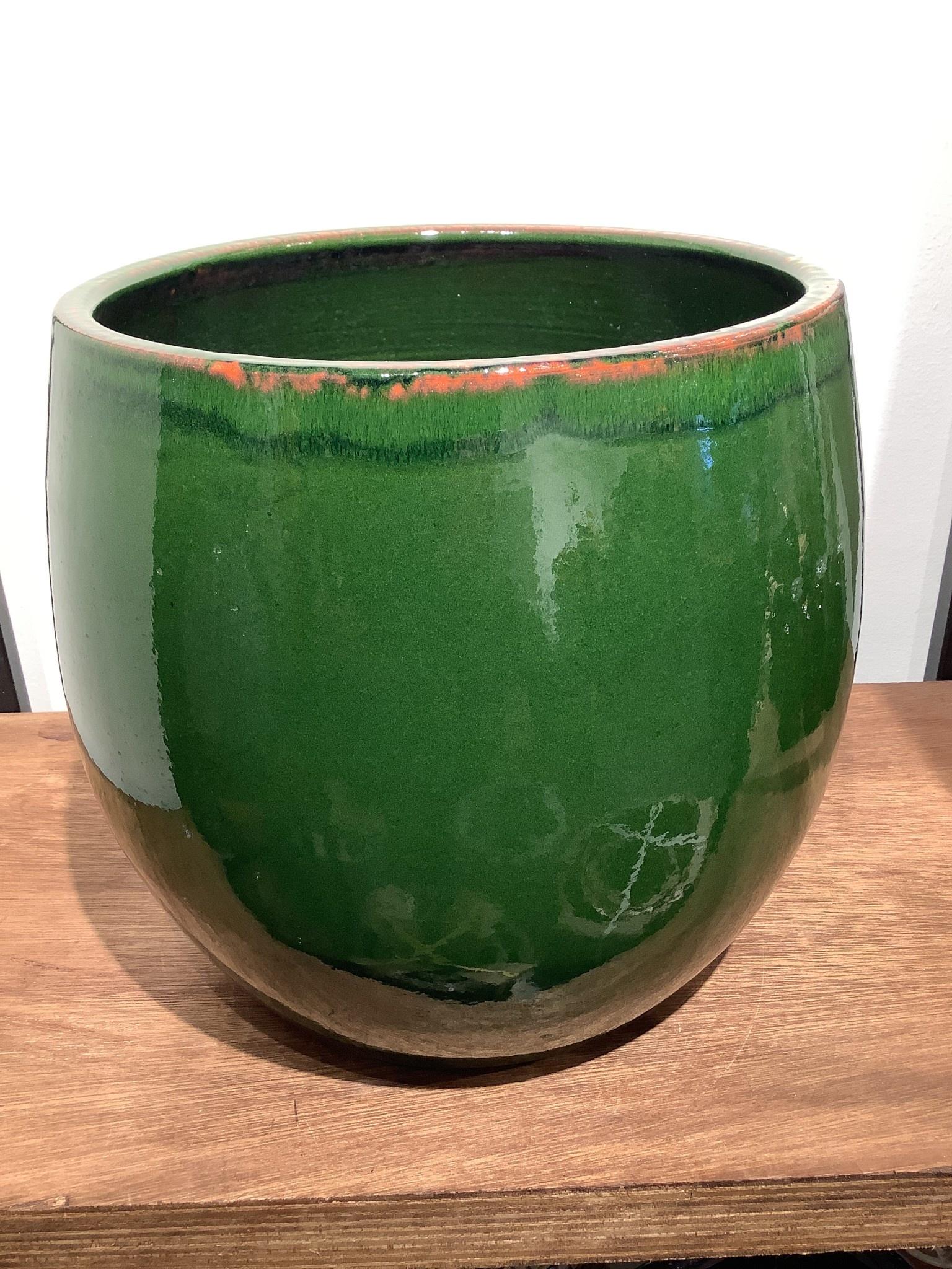 Pot Charlotte green  26 cm hoog