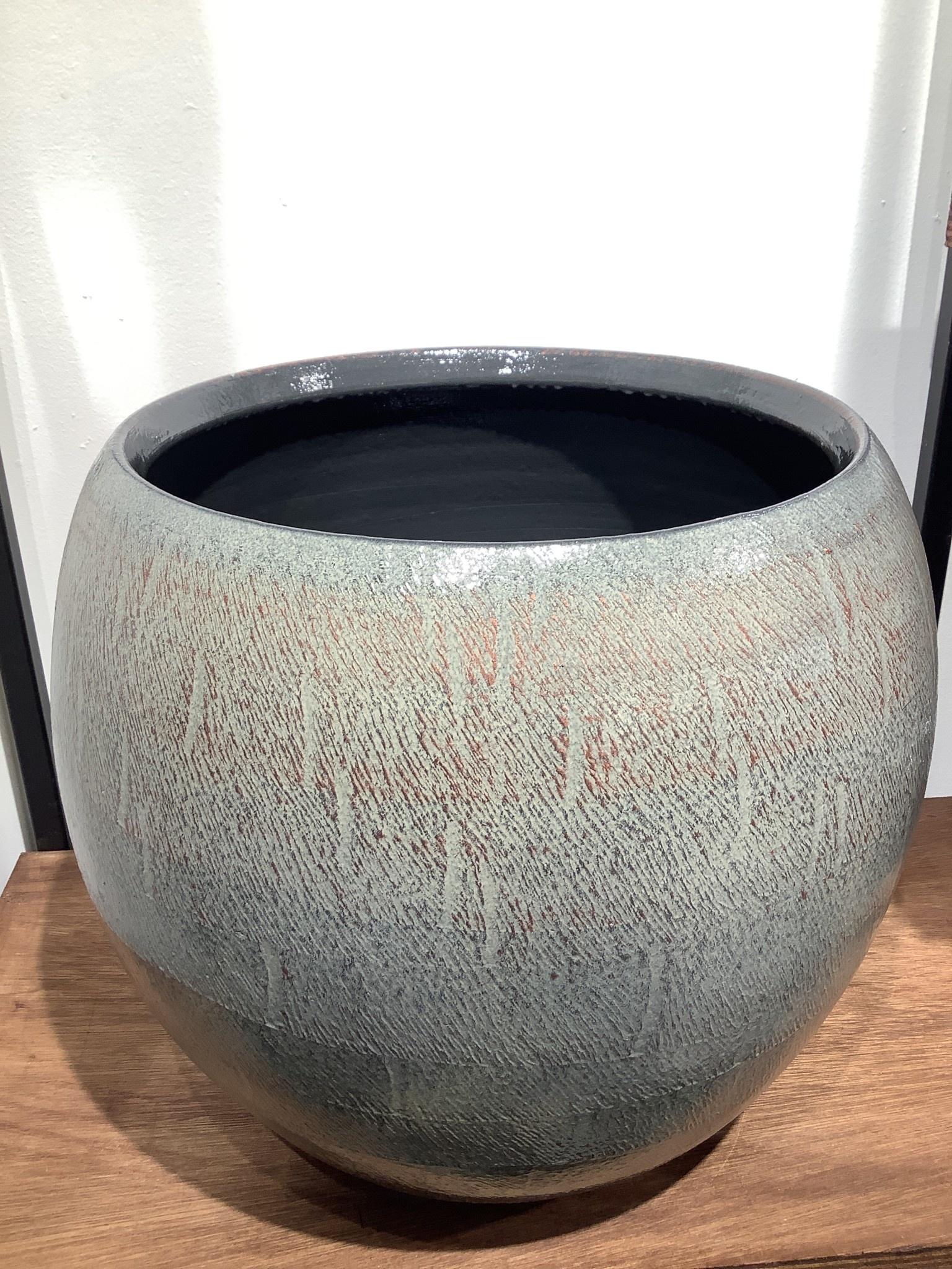 Pot Ayla grey brush  32 cm hoog