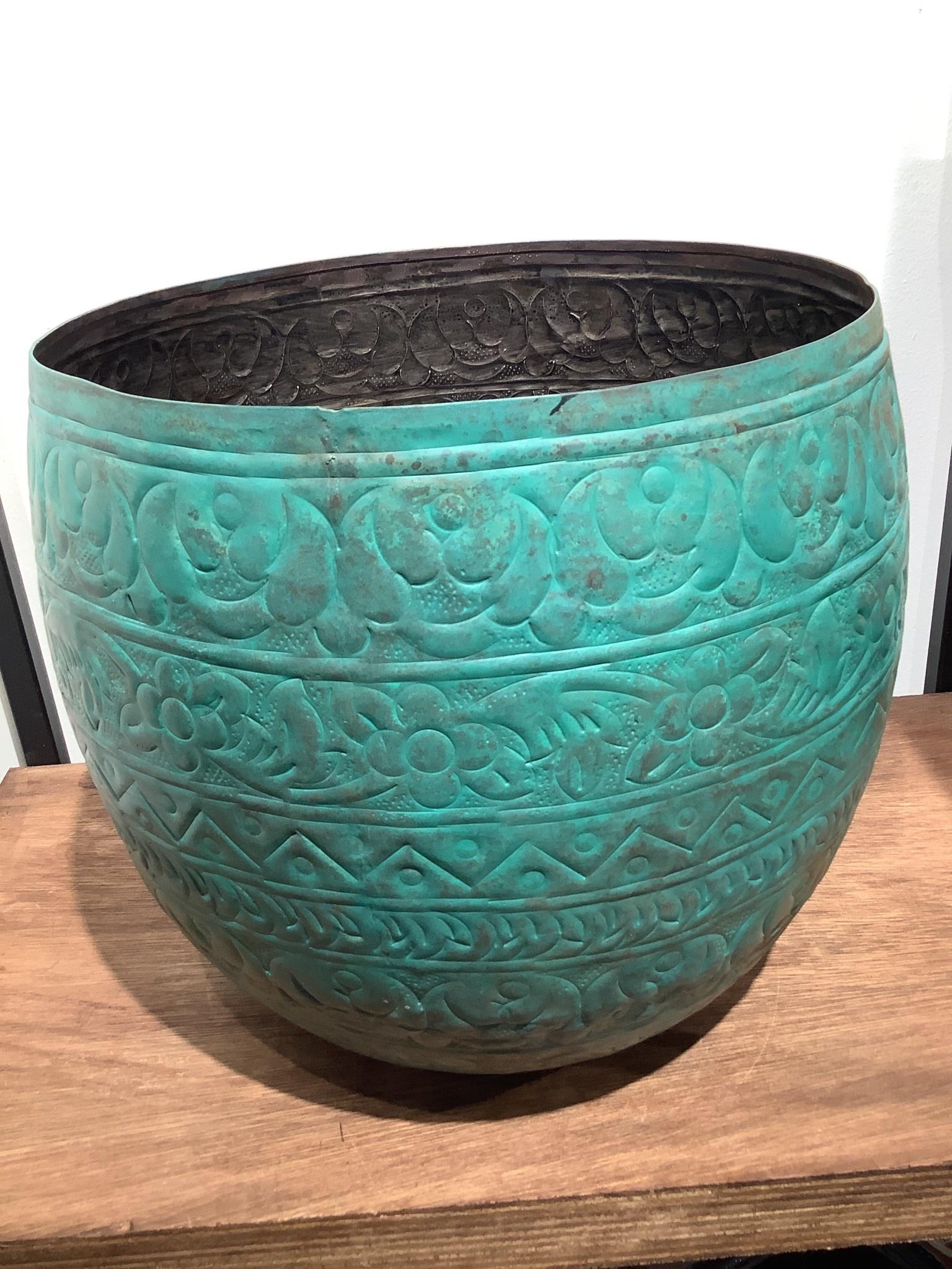 Pot Famke old blue   28 cm hoog