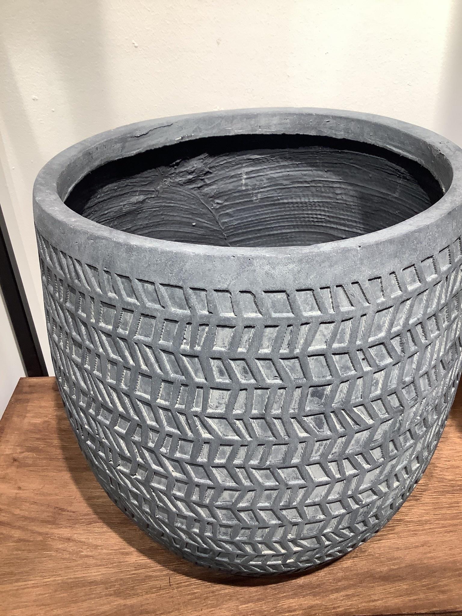 Pot Kinza antraciet  34 cm hoog