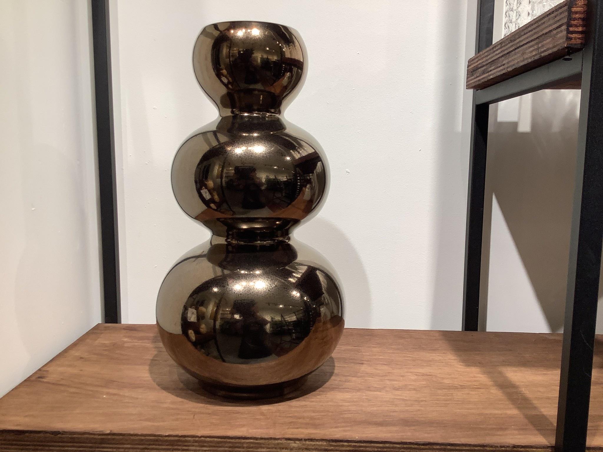 Vaas Maurice drie bollen goud 41 cm hoog