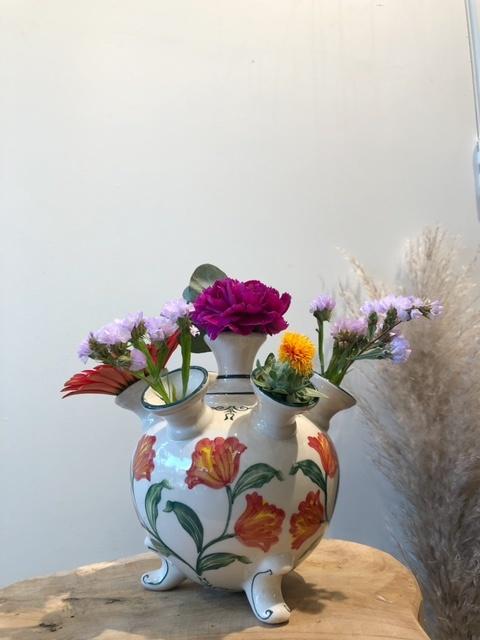 Tulpenvaas oranje tulp L 18 cm