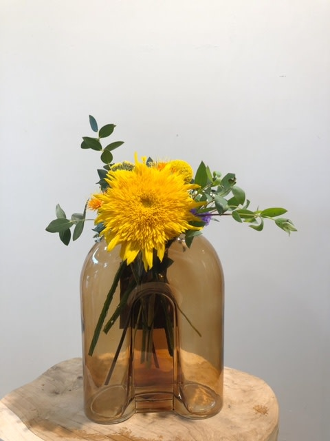 Vaas Arch geel glas 16x7x19 cm