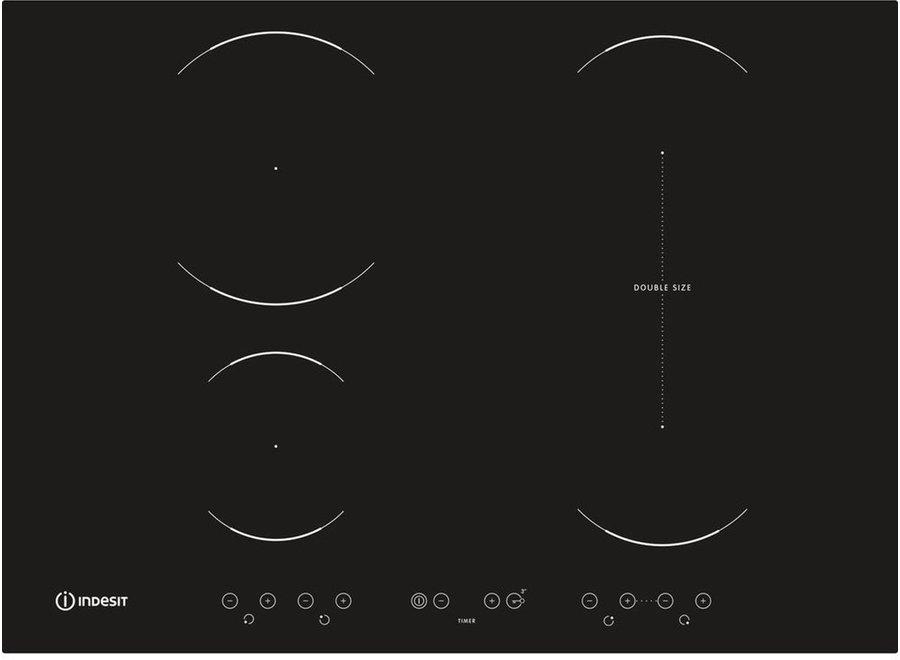 Indesit VID741BC Inbouw Inductie Kookplaat 70 cm