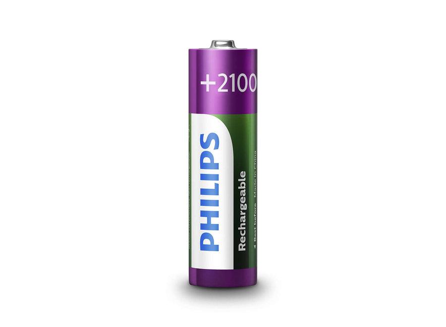 Philips R6B4A210/10 4X AA Oplaadbare Batterijen