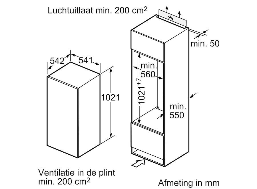 Siemens KI20RNSF0 Inbouw koelkast
