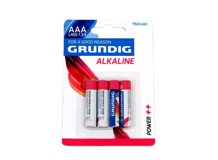 Grundig Alkaline Batterij AAA 4-pack