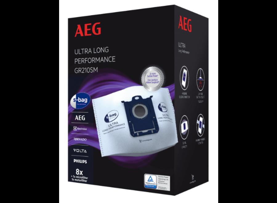 AEG GR210SM S-Bag Ultra 8 stuks Stofzuigerzakken