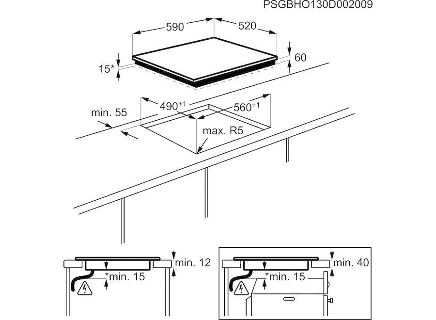 AEG HK604200IB Inbouw Inductie Kookplaat 60 cm