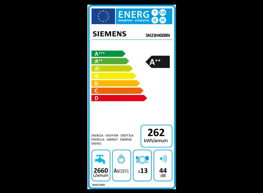 Siemens SN23HI00BN Vrijstaande vaatwasser