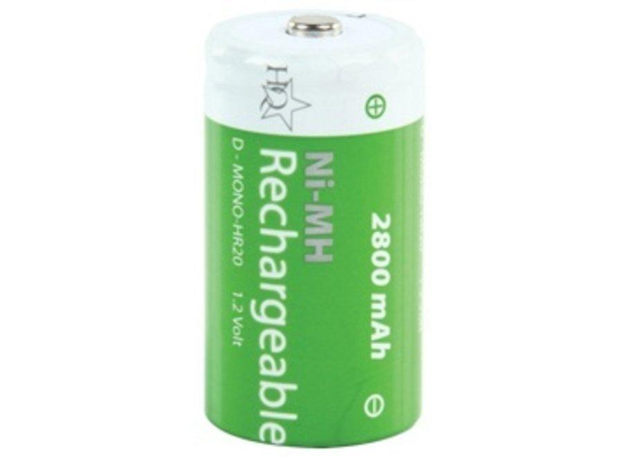 HQ Oplaadbare NiMH Batterij D/LR20 1.2 V 2800 mAh 2-blister